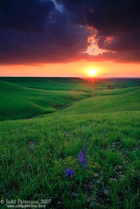 Konza Prairie Sunset