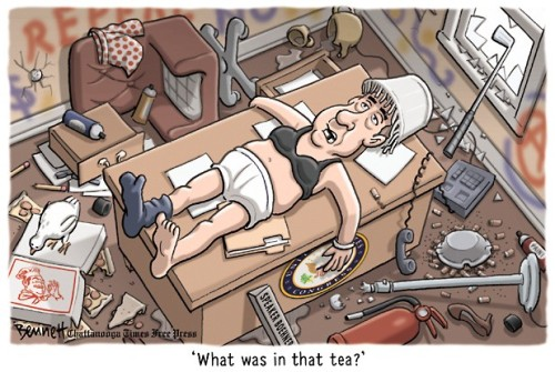 tea party hangover