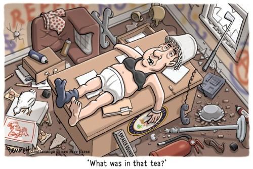 tea party hangover