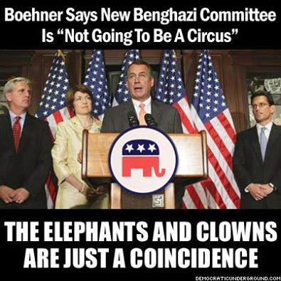 elephants and clowns