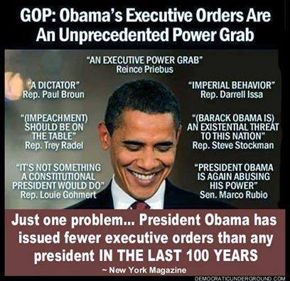 fewer executive orders