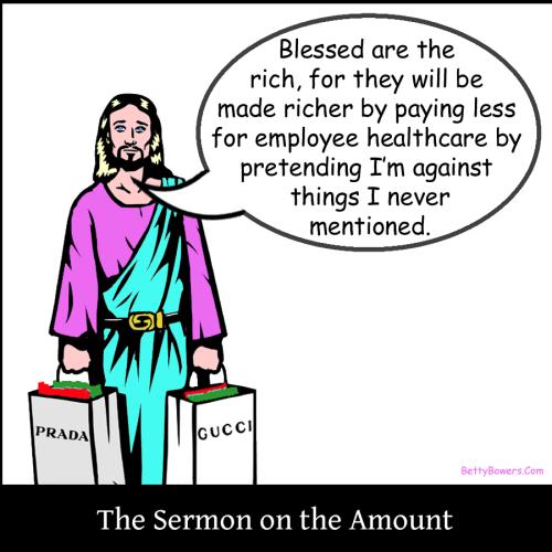 sermon on the amount