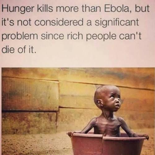 hunger vs ebola