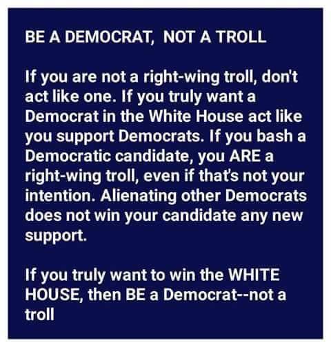 be a democrat