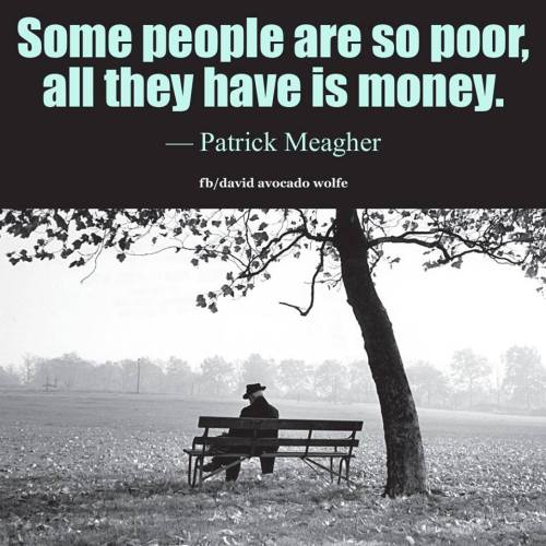 so poor only have money