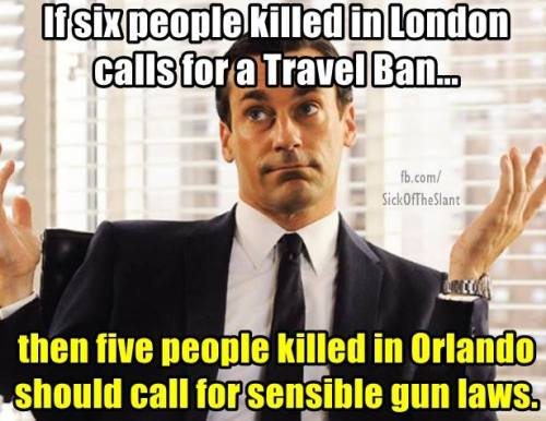 travel ban and gun laws