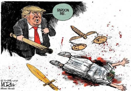 TRUMP KILLED LADY LIBERTY